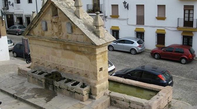 Eight spout fountain or los ocho caños in Ronda