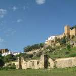 City gates and defensive walls of Ronda in Andalusia