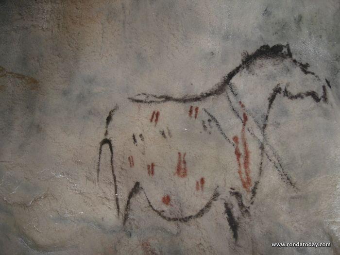 Pileta Paleolithic Cave Paintings At Benaojan Ronda The