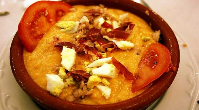 Traditional Porra (Soup) from Antequera, Spain