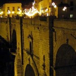 Ronda bridge at night time