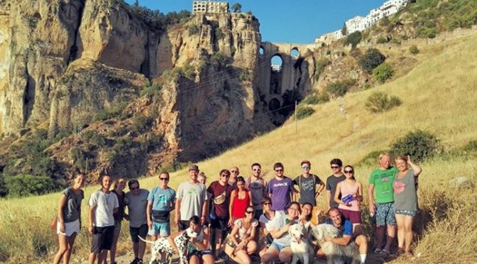 Great evening hiking with students and friends of Entrelenguas! How fun!  #entre…