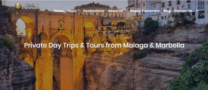 Costa excursions. Private guided tours to Ronda from the costa del sol in andalusia
