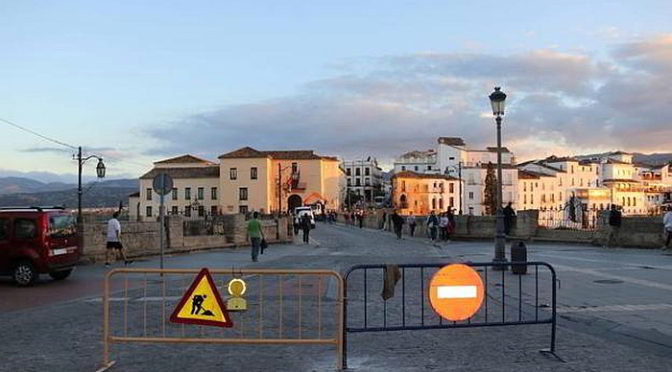 Puente nuevo in Ronda closed to traffic end of 2017