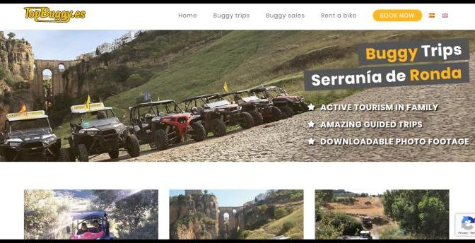 Guided excursions with 2 or 4 seater buggies for couples and families